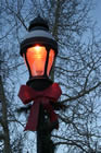 Red Ribbon Light Post